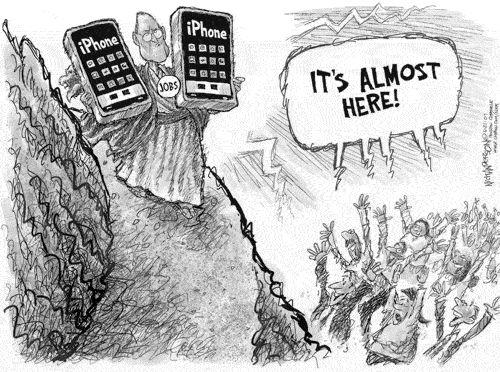 Карикатура на iPhone