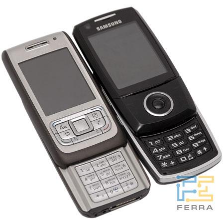 Сравнение Nokia E65 и Samsung i520 2