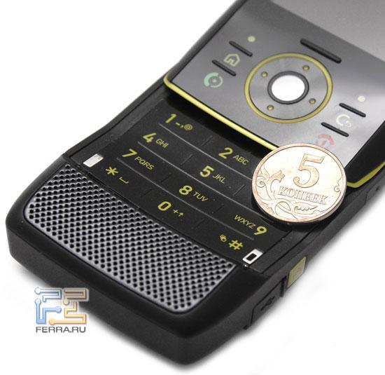 Габариты Motorola RIZR Z8 в масштаб 2