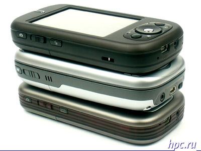 Сверху вниз: Qtek s200, Qtek 9100 и Qtek s110