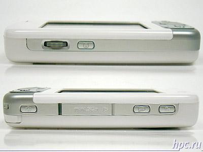 HTC P3600 (Trinity): левый и правый торцы