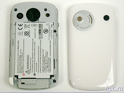 HTC P3600 (Trinity): со снятой крышкой батарейного отсека