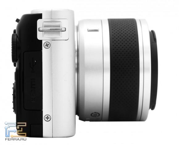 Nikon 1 J1, вид справа