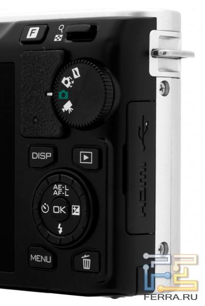 Nikon 1 J1, органы управления