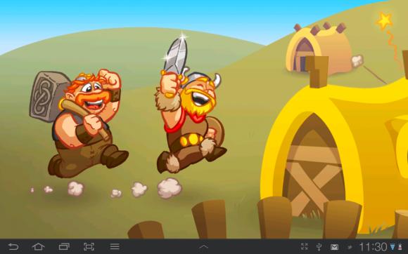 Викинги — еще одна игра из поставки Samsung Galaxy Tab 7.7