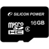 Карта памяти Silicon Power microSDHC Class 4 16GB