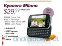 Стоимость Kyocera Milano снижена до 29,99 долларов