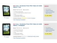 На Best Buy предлагается оформить заявку на Asus Transformer Prime