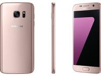Samsung представила флагманы Galaxy S7 и S7 edge в розовом цвете