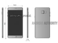 Стали известны размеры смартфона Samsung Galaxy Note 6