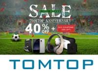 День Рождения магазина TOMTOP.com - cкидки на смартфоны и другие товары от 40%