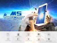 Leagoo M5 – бюджетный  защищенный смартфон с биометрическим сенсором
