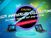 12-летие Chuwi: акции и спецпредложения на планшеты с 12 по 25 сентября