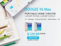 Акция: 6.5-дюймовый Doogee Y6 Max с Hi-Fi звуком всего за $129.99