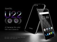 OUKITEL  рассекретила спецификацию своего первого 4-камерного смартфона U22