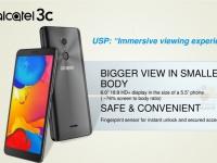 Безрамочный смартфон Alcatel 3C оценен в 120 евро