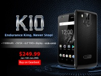 Король автономности OUKITEL K10 с батареей на 11000 мАч стартовал на распродаже за $249.99
