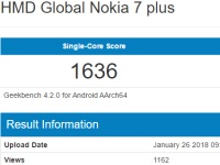 Nokia 7 Plus на Snapdragon 660 замечен в Geekbench