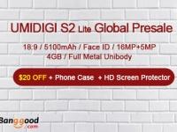Начались предварительные продажи полноэкранного смартфона UMIDIGI S2 Lite на Banggood