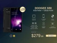 Скидки, купоны и распродажа смартфонов Doogee, в том числе и флагмана S50