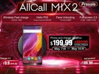 AllCall официально запускает розыгрыш с возможностью получить бесплатно смартфон Mix2 и беспроводную зарядку F1