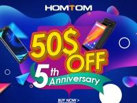 Бренду HomTom уже 5 лет - большие скидки и смартфоны для покупателей в подарок