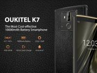 OUKITEL K7 должен стать самым доступным смартфоном с 10000 мАч