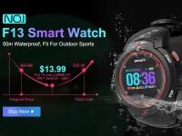 NO.1 F13 – смарт-часы с защитой IP68 и TFT дисплеем за $26.99