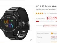 Товар дня: Смарт-часы с GPS  - NO.1 F7 со скидкой в 42% за  $33.99