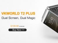 vkworld T2 Plus на Android с двойным экраном сейчас доступен за $109.99