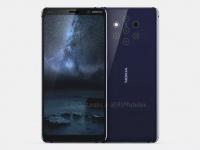 Nokia 9 с пятью камерами на 3D-рендере