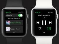 Spotify представила приложение для часов Apple Watch