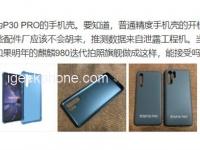 Первое изображение чехла для флагманского камерофона Huawei P30 Pro
