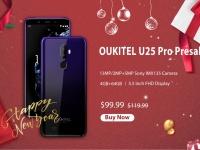 OUKITEL U25 Pro доступен за $99.99 в градиентной расцветке