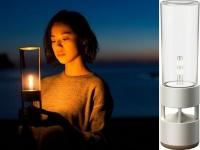 Sony показала стеклянную беспроводную колонку, которая выглядит как лампа или свеча