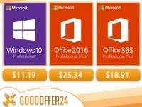 Софт дня: Windows Pro - $11.19, Office 2016 Pro - $25.34, Office 2019 Plus - $52.02