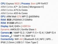 Опубликован полный перечень характеристик флагманского смартфона Samsung Galaxy S10+