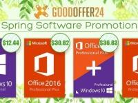 Весенняя акция – скидка 18%: Windows Pro $12.44, Office 2016 Pro $30.82, Office 2019 Plus $58.16