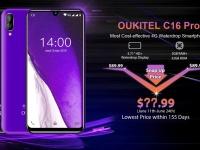 Oukitel представила доступный 4G-смартфон C16 Pro с каплевидным вырезом под фронталку