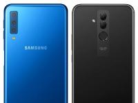 Сравнение телефонов: Huawei Mate 20 Lite или Samsung Galaxy A7?