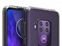 Motorola One Pro позирует на рендерах: экран с каплевидным вырезом и четверная камера