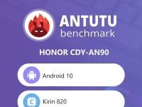 Honor 30S на Kirin 820 в AnTuTu: по всем статьям лучше Snapdragon 765G