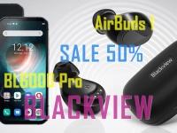 Видео анонс скидок! Blackview нас балует - 50% на BL6000 Pro 5G и новые наушники AirBuds 1