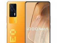 Vivo представила игровой смартфон iQOO Neo5 на процессоре Snapdragon 870 с очень быстрым сенсором