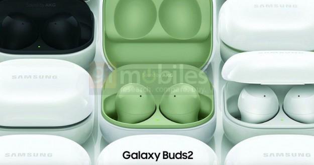 Беспроводные наушники Samsung Galaxy Buds 2 показали на официальных изображениях