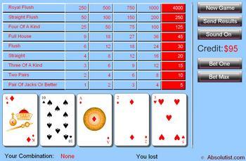 Карточная игра Покер. Делаем ставку и играем, один из лучших покеров на флеш. Cовместимость: 5800 (5th