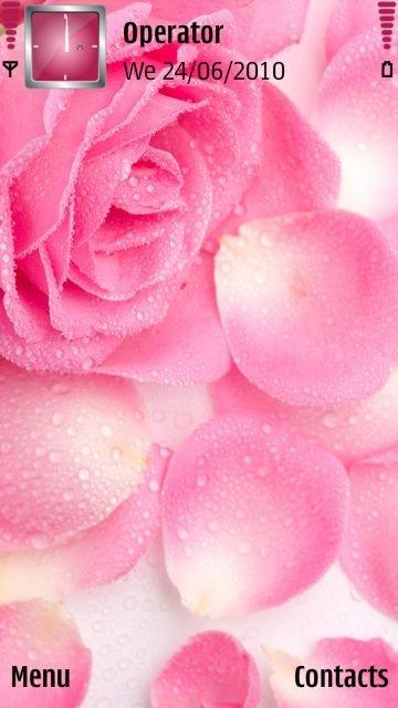 Тема Rose Petals - скачать. Темы для мобильного, смартфона