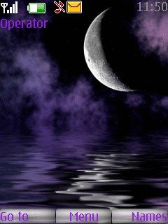 gif картинки240/400 луна звёзды мобильный