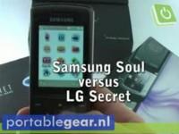 Видео обзор Samsung Soul vs LG Secret