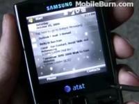 Видео обзор Samsung i907 Epix - Интерфейс